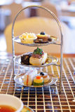 High tea set Royalty Free Stock Image