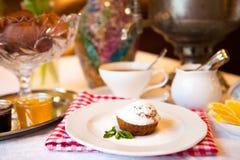 High tea set with dessert, Afternoon tea set Royalty Free Stock Photography
