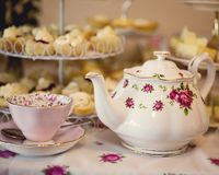 High Tea For Special Occasion stock photo
