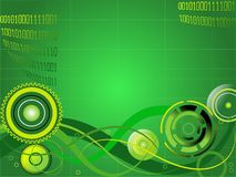 High-tech abstract background. Green background, wires and gears, internet concept royalty free illustration