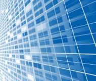 High-tech abstract blauw malplaatje Vector Illustratie