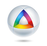 High tech abstract icon. 3d vector Royalty Free Stock Image