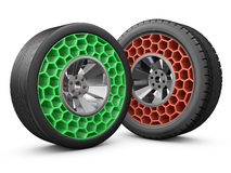 High tech airless wheels Stock Image