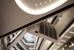 High Tech Atrium. High Tech Building Atrium Interior stock photography