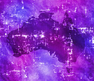 High tech australia map Royalty Free Stock Images