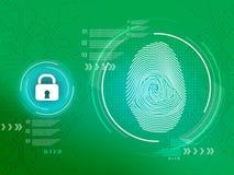 Finger Print_bio metric_Smart lock Concept_background stock illustration