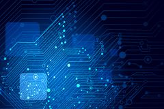 High Tech Background. Illustration of high tech futuristic background with circuit board Royalty Free Stock Images