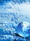 High-tech_background con il programma di mondo immagini stock libere da diritti
