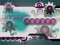 High tech background with gears Stock Photos