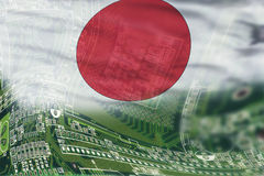 High Tech Background of japan. High Tech background of Japan with flag Royalty Free Stock Images
