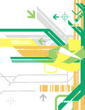 High-tech background series. High-tech vector background with arrow details, in yellow, green, orange and grey colors. EPS file available Stock Photo