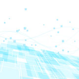 High-tech background template - blue geometry Stock Images