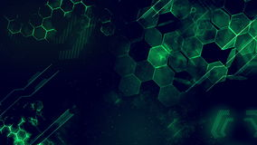 High tech background. Version 2 with glow effect stock footage