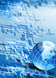 High-tech_background with world map Royalty Free Stock Images