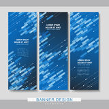 High-tech banner set template design Stock Photos