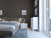 High-tech bedroom design Stock Photo