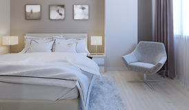 High-tech bedroom design Stock Image