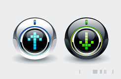 High tech buttons Stock Photo