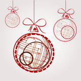 High-tech christmas balls Stock Photography