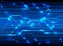 High-Tech Circuit Board Background, Technology blue circuit abst Royalty Free Stock Photo
