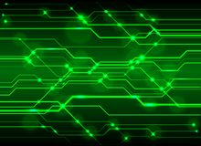High-Tech Circuit Board Background, Technology green circuit abs Royalty Free Stock Image