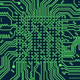 High tech electronic circuit board vector background. High tech circuit board computer vector background Royalty Free Stock Image