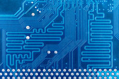 High tech circuit board industrial background. High tech circuit board blue industrial background Stock Photography