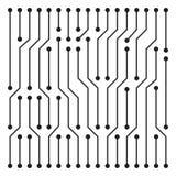 High tech circuit board texture beautiful banner wallpaper desig. N illustration royalty free illustration