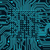 High tech electronic circuit board vector background. High tech circuit board on vector background Stock Images