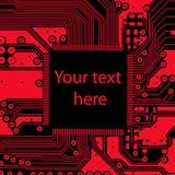 High tech electronic circuit board vector background Royalty Free Stock Photos