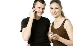 High Tech Couple Stock Photo