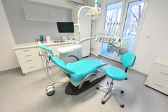 High tech dentistry tools - doctors office Royalty Free Stock Photo