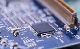 High-tech dichte omhooggaand van de Kringsraad, macro concept informatietechnologie Stock Afbeeldingen