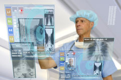 High-tech doctor Stock Images