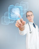 High-tech doctor Stock Photo