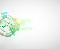 High tech eco green infinity computer technology concept backgro Royalty Free Stock Photography