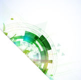 High tech eco green infinity computer technology concept backgro Stock Photo