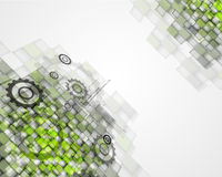 High tech eco green infinity computer technology concept backgro Stock Images