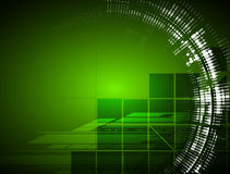 High tech eco green infinity computer technology concept backgro Royalty Free Stock Photos