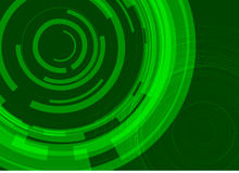 High tech eco green infinity computer technology concept Royalty Free Stock Photography