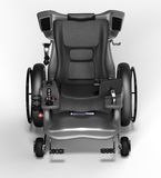 High tech electric wheelchair isolated on a white background Stock Images