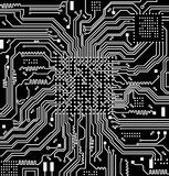 High tech electronic circuit board vector background Stock Images