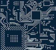 High tech electronic circuit board vector background. High tech circuit board on vector background Royalty Free Stock Photography