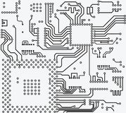 High tech electronic circuit board vector background. High tech circuit board on vector background Royalty Free Stock Photo