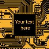 High tech electronic circuit board vector background. High tech circuit board on vector background Stock Image