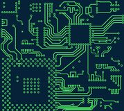 High tech electronic circuit board vector background. High tech circuit board vector illustration on white background Stock Photo