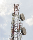 High-Tech  Electronic Communications Tower Royalty Free Stock Images