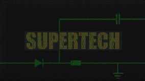 High-tech elektronische achtergrond Stock Foto