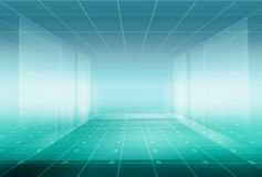 High tech  Enclosed Studio Background Stock Images