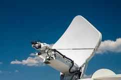 High-tech equipment TV transmission antenna Royalty Free Stock Images